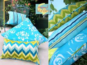 Fabric For Patio Cushions by Weekend Wonders With Fabric Com Outdoor Piped Pillow Trio