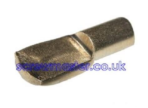 4off 7mm spoon shaped shelf supports peg brass finish for