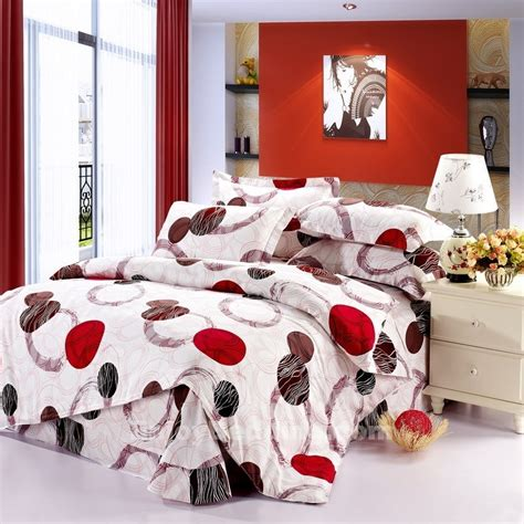 red and white polka dot comforter white red black and brown vogue girls polka dots and