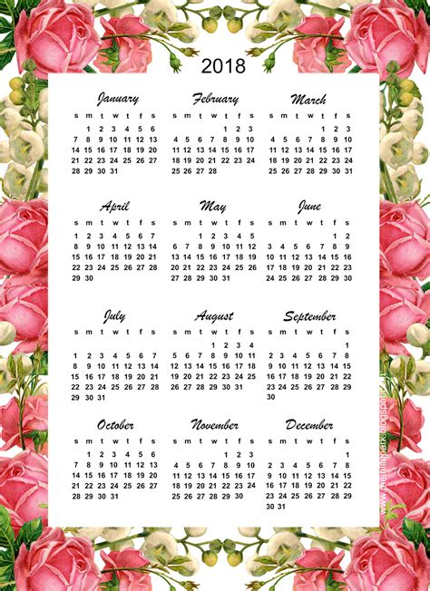 .free 2018 yearly calendar download printable yearly calendar templates