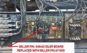 miller blue idler board replacement parts