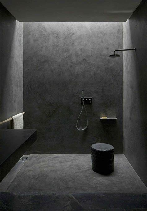 dark bathroom rendered shower walls bathroom pinterest grey