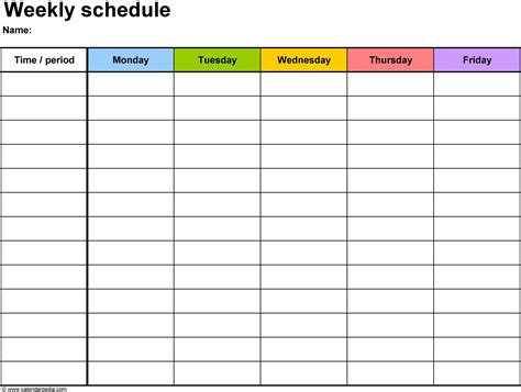 printable workout schedule template online calendar