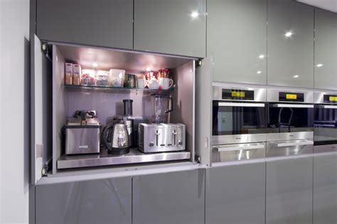 appliance cabinets kitchens the best places to stash small kitchen appliances