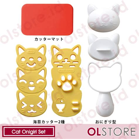 Rice Mold Baby Cat Cetakan Nasi Bento Kucing jual bento tools cat onigiri set jual cetakan bento cat onigiri jual bento tools