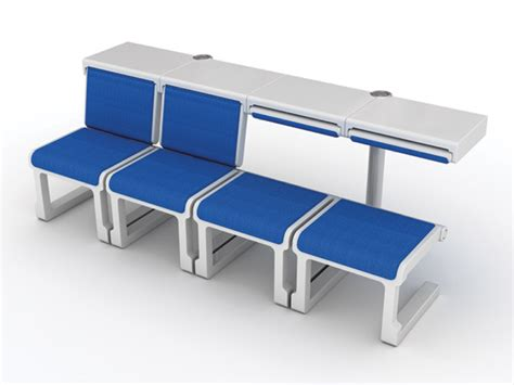 comfortable bench seating comfortable seating at airports yanko design