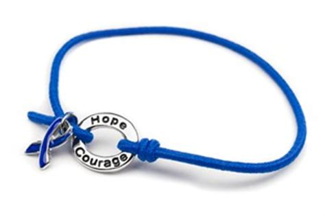 Blue Stretch Ribbon Charm Bracelet