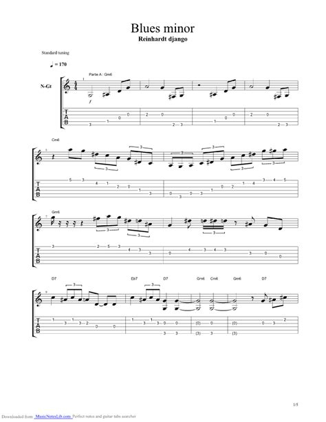 django reinhardt minor swing tab blues minor guitar pro tab by django reinhardt