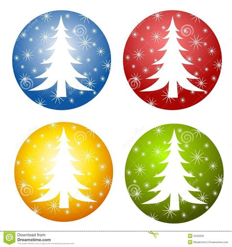 abstract christmas tree icons stock illustration image
