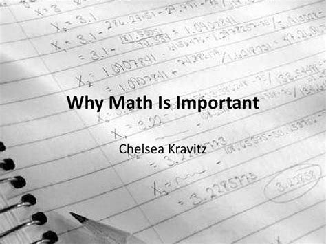 Why Mat Is Necessary by Why Math Is Important