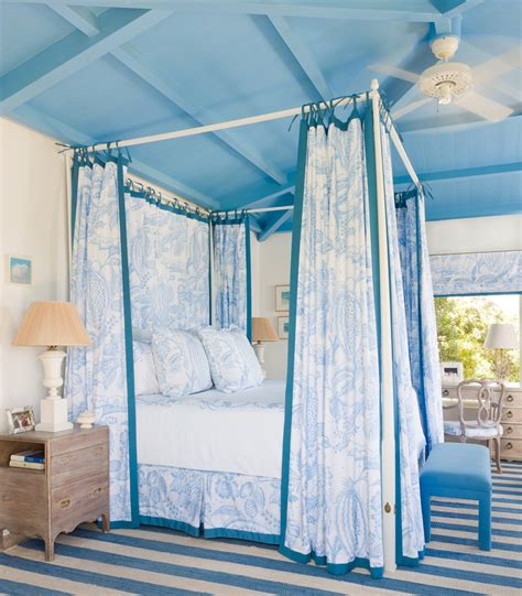 blue bed canopy living rooms arranging furniture ideas fireplaces focal points wallpaper paint