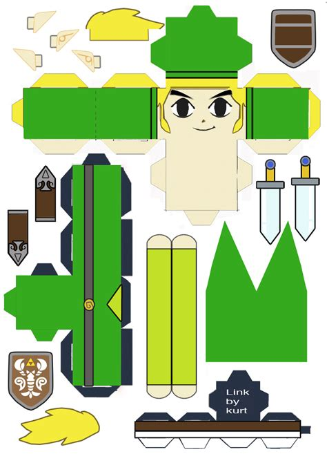 Link Papercraft - legend of link phantom hourglass cubeecraft by