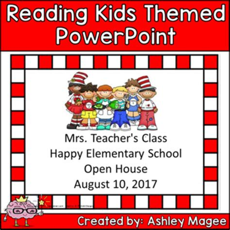 themes in reading powerpoint open house back to school p by mrs magee teachers pay
