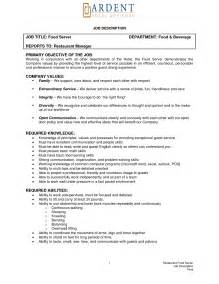 Resume Description Exles by Resume Sle For