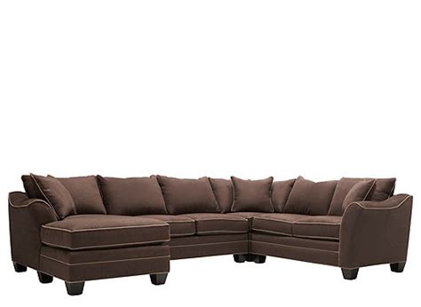 Foresthill 4 Pc Microfiber Sectional Sofa Chocolate 4 Pc Sectional Sofa