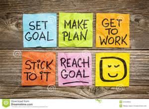 make plan set and reach goal concept stock photo image 41544653