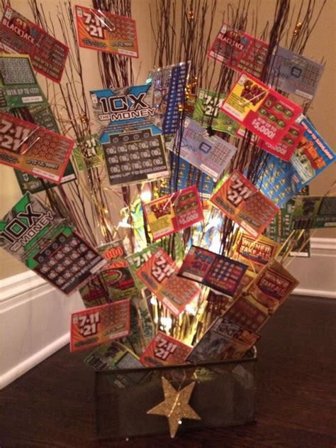 christmas trees decorated with scratch tickets lottery tree raffle basket fundraiser idea lottery gift basket walk fundraising ideas