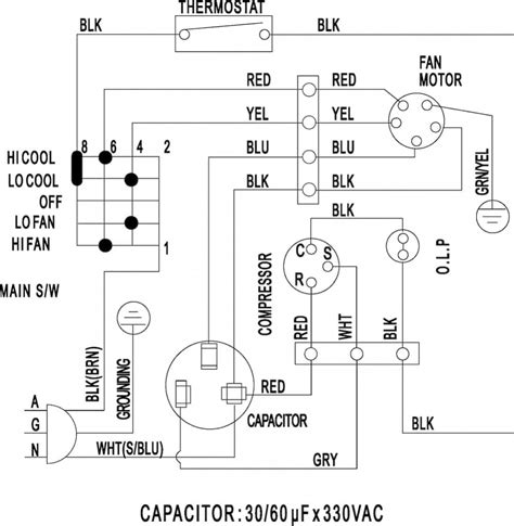air conditioner diagram of parts wiring diagram schemes
