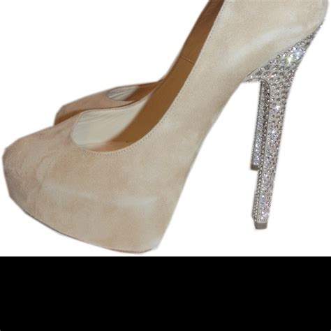 blinged out high heels jimmy choo pumps with blinged out heels wedding shoe