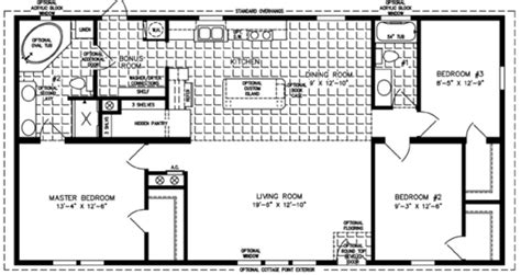 Floor Plans For Trailer Homes by 3 Bedroom Mobile Home Floor Plan Bedroom Mobile Homes