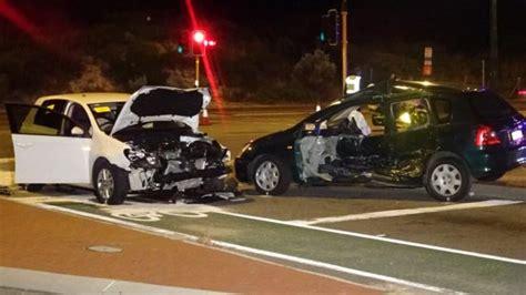 perth news car crash perth critical after two car crash in city