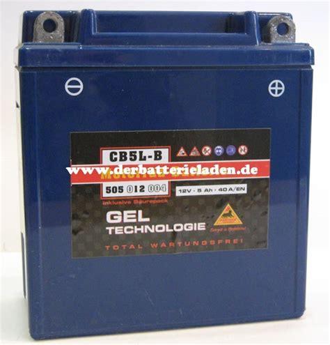 Motorradbatterie Cb5l B by Panther Gel Tech Motorradbatterie Cb5l B Der Batterieladen