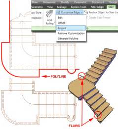 autocad architecture custom stairs