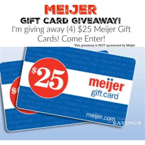 Meijer Printable Gift Cards | meijer gift card giveaway 4 25 gift cards a mitten