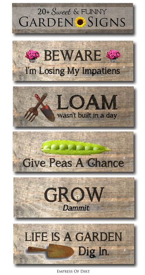 Funny Garden Signs Garden Signs And Signs On Pinterest Garden Sign Ideas
