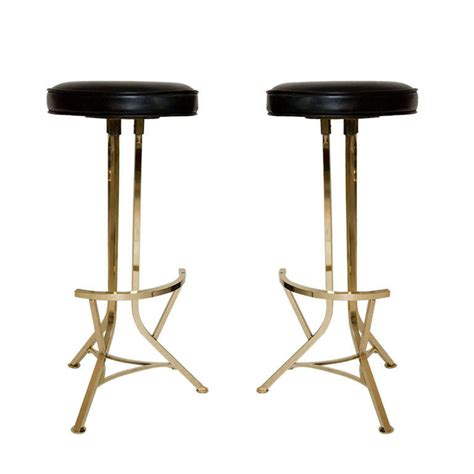 bar stools in chicago pair of vintage modernist brass bar stools by seng chicago