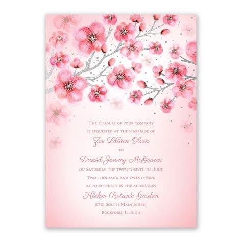 cherry blossoms wedding invitations cherry blossoms foil invitation invitations by