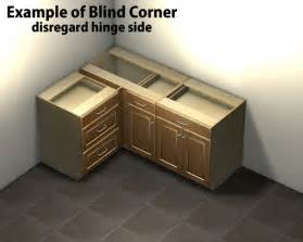 1 door 1 drawer blind corner base cabinet right