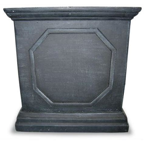 home depot large planters 14 in square gray fiberglass planter 100514316 the home depot