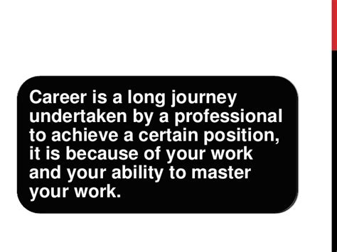 your career today and in the future