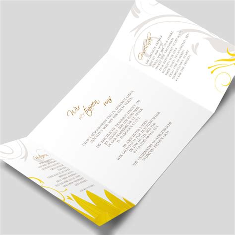 design hochzeitseinladung hochzeitseinladung modernes sonnenblumen design