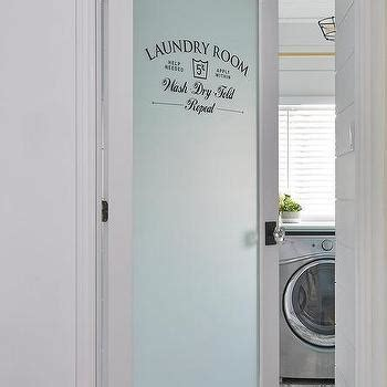 Laundry Room Door Etched Glass Shiplap Ceiling Design Ideas