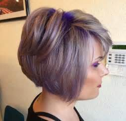 shag haircut brown hair with lavender grey streaks 22 sassy purple highlighted hairstyles for short medium