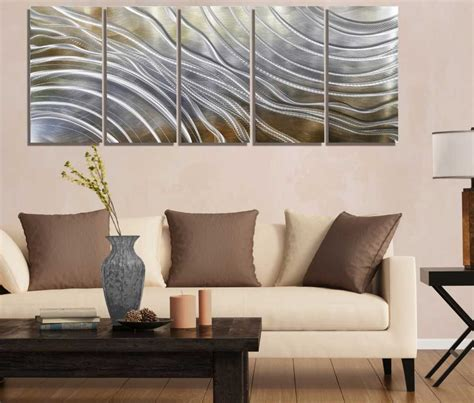 metal wall decorations for living room gold and silver