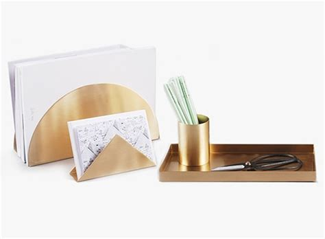 brass desk accessories brass desk set accessories better living through design