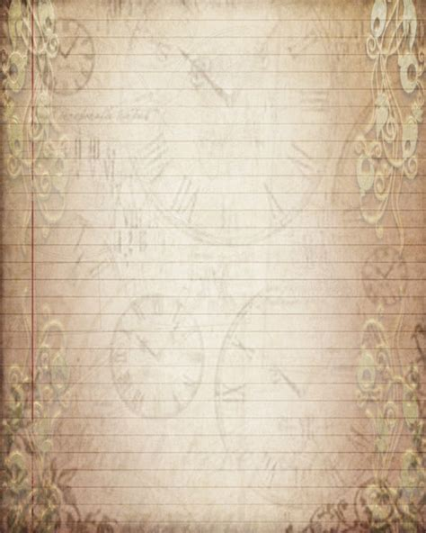 pattern of journal writing printable journal page vintage filigree lined digital