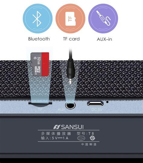 Vivan Vsb900 Speaker Bluetooth V4 0 20w Output Bass Golden Original sansui t8 20w unit diaphragm wireless bluetooth speaker tf card outdoors subwoofer
