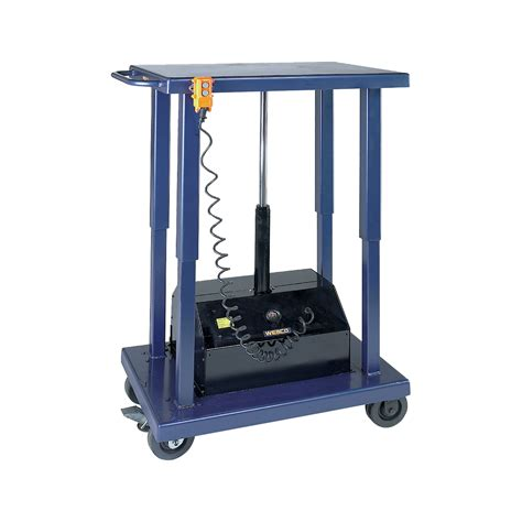 wesco powered hydraulic lift table 6 000 lb capacity