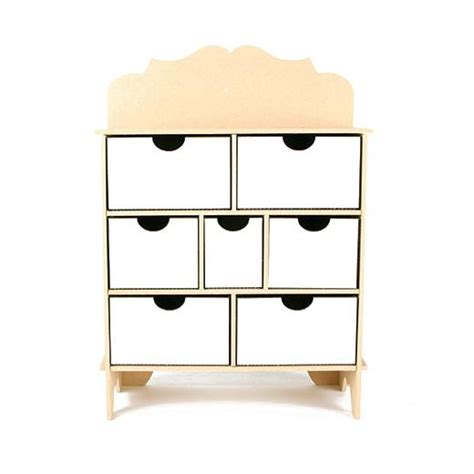 Mdf Drawers by Pronty Mdf Chest Of Drawers Scroll 370 Buddly Crafts