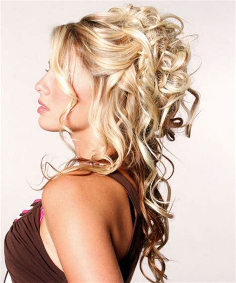 curly hairstyles up styles prom hairstyles curly half up