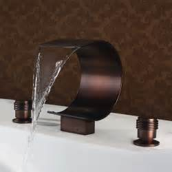 mooni waterfall tub faucet rubbed bronze