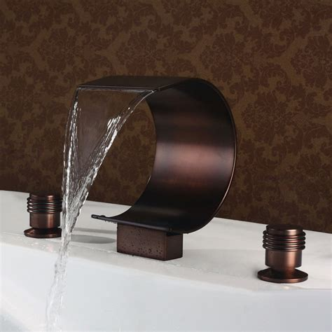 bronze bathtub faucets mooni waterfall roman tub faucet oil rubbed bronze