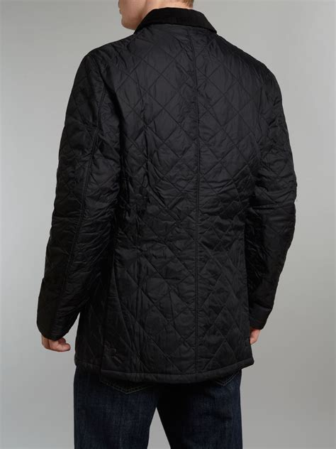 Barbour Black Quilted Jacket by Barbour Conway Tailored Quilted Padded Jacket In Black For
