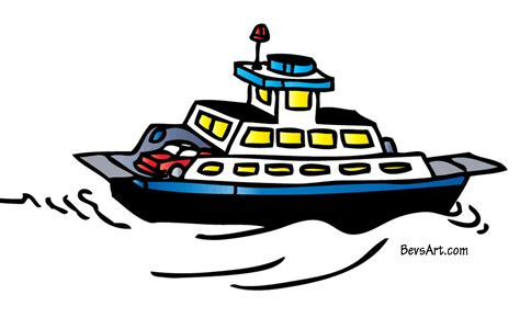 ferry boat cartoon ferry clipart