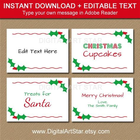 buffet cards template printable labels tent cards place