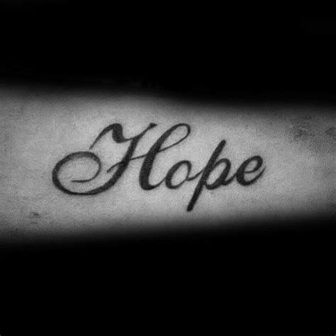 the word hope tattoo designs 40 tattoos for four letter word design ideas